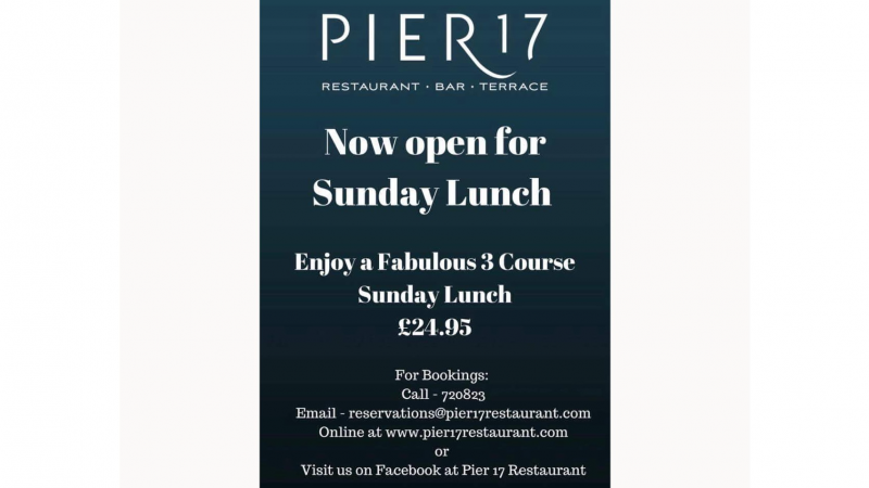Pier 17 Now Open for Sunday Lunch